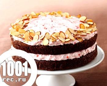 Вишневий торт з мигдальним бісквітом