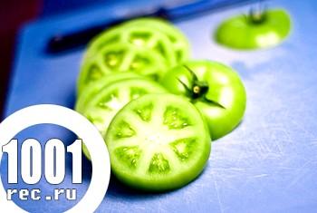 Смачний салат із зелених помідорів