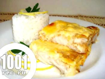 Запечена риба з соусом в мікрохвильовці