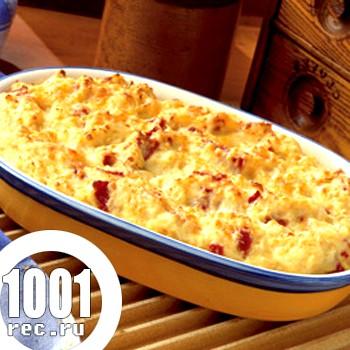 Запіканка з картопляного пюре і квашеної капусти