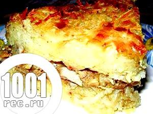 Запіканка картопляна з грибами та сиром