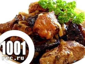 Печеня з яловичини з чорносливом